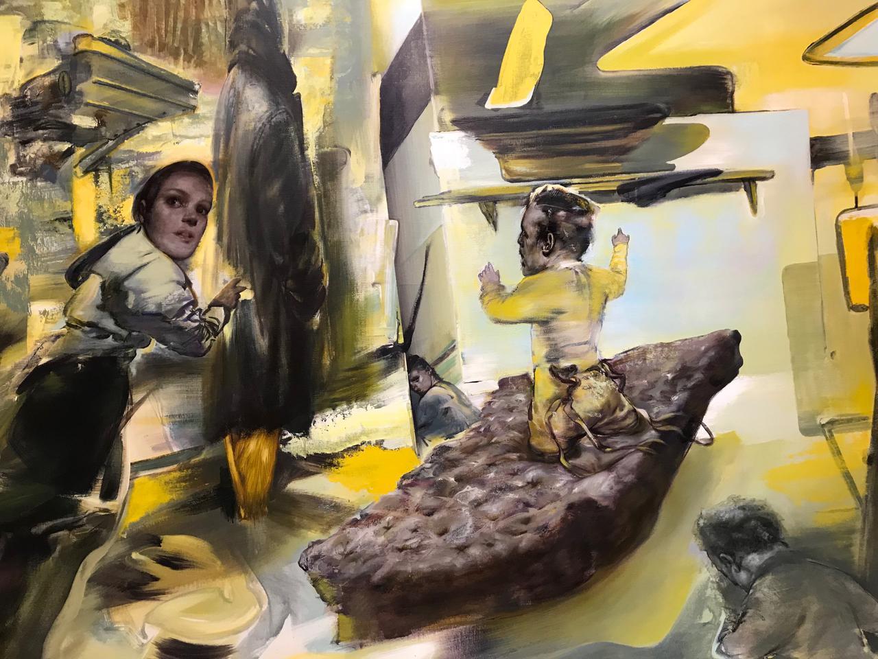 Tasos Missouras, acrylic on canvas, 107 x 161 cm