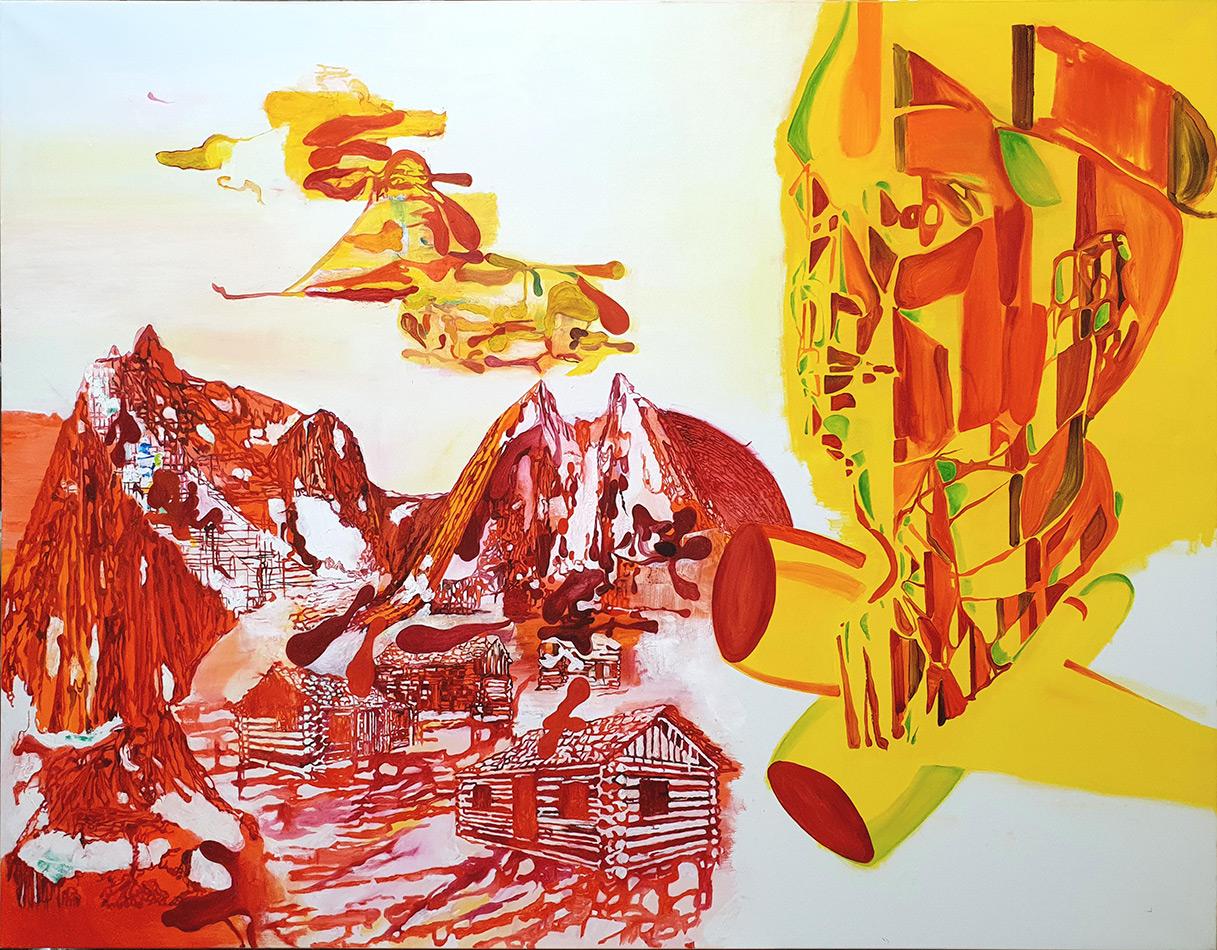 George Kazazis, Untitled, 2020,  Οil on canvas, 120X160 cm