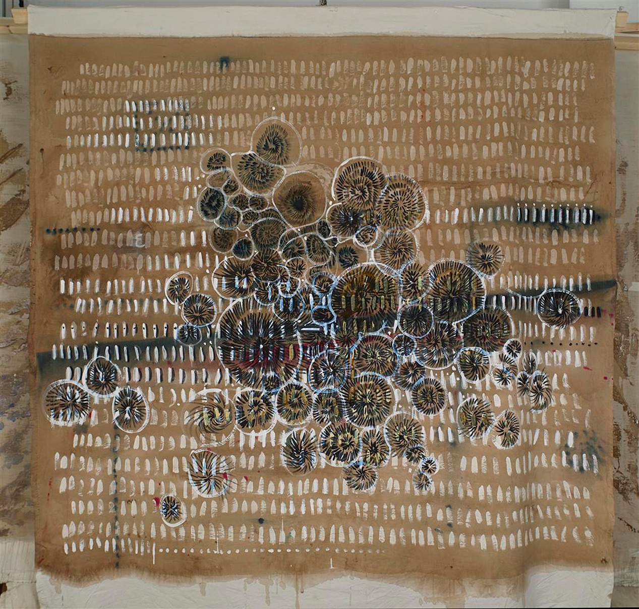Eleni Zouni, Epistula VI, 2018, Ink on canvas, 165X177 cm