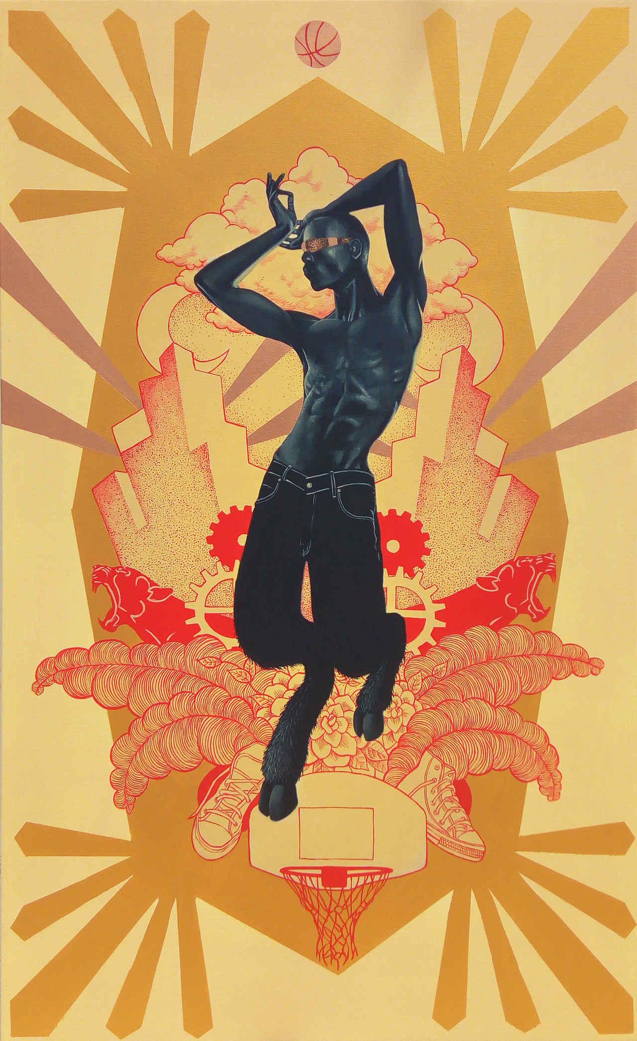 Stamatis Theoharis, Legendary, 80 x 130 cm, acrylic on canvas
