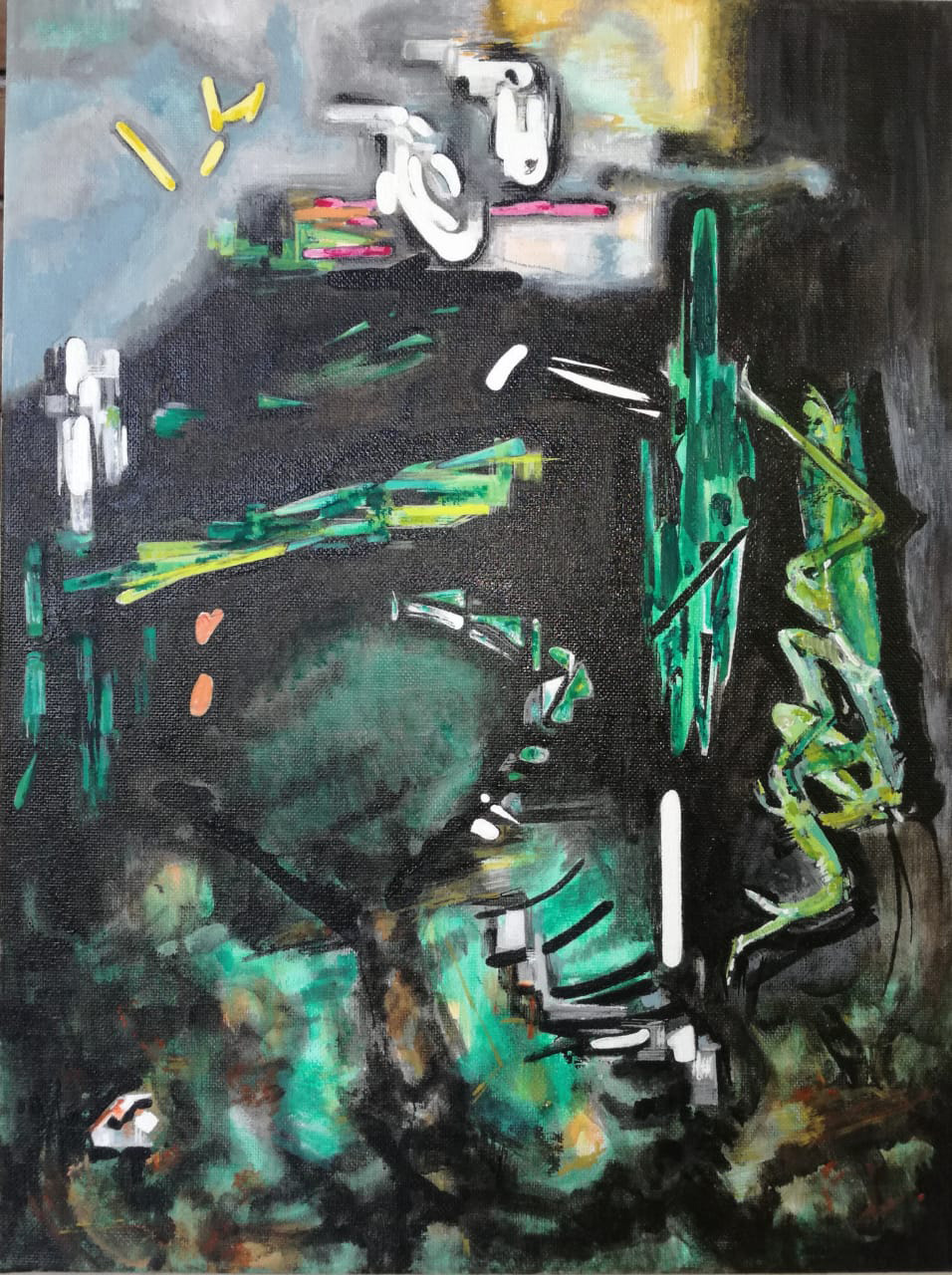 Vana Fertaki Untitled, 2021, oil and varnish on canvas, 40 x 30  cm