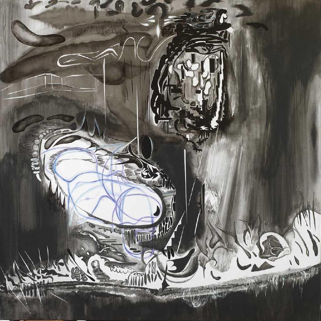 Vana Fertaki Untitled, 2021, oil and varnish on canvas, 100 x 100  cm