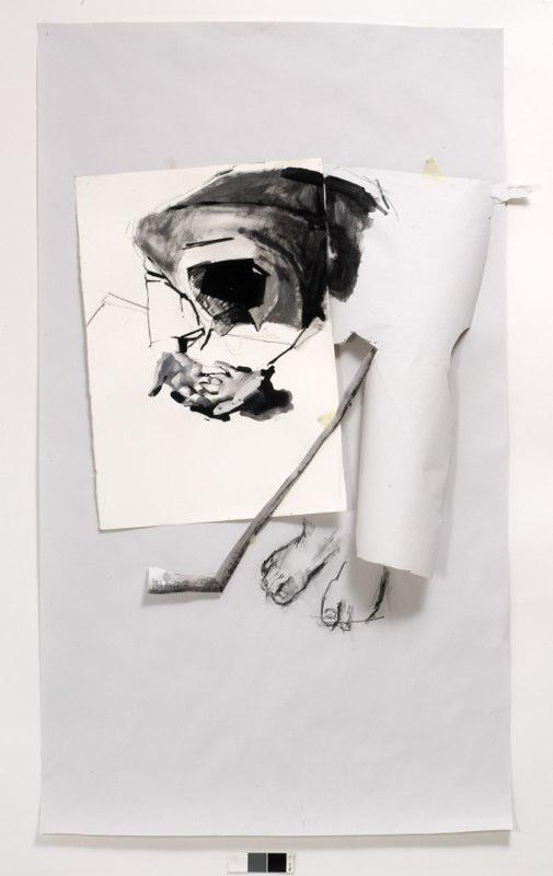 Untitled, mixed media on paper, 100 x 205 cm