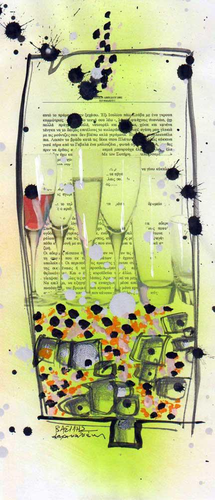 Urban Details 2011-2012 & Project On Papers 2013,mixed media on paper, 27 x 13 cm