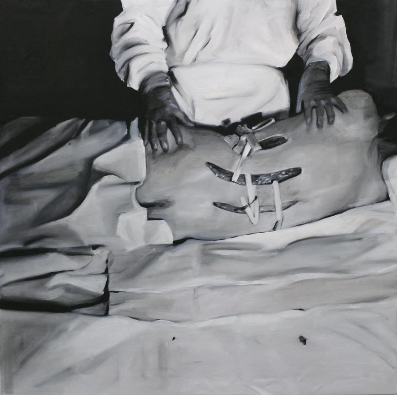 Eleana Antonaki, So Did We, oil on canvas, 97 x 97 cm, 2015