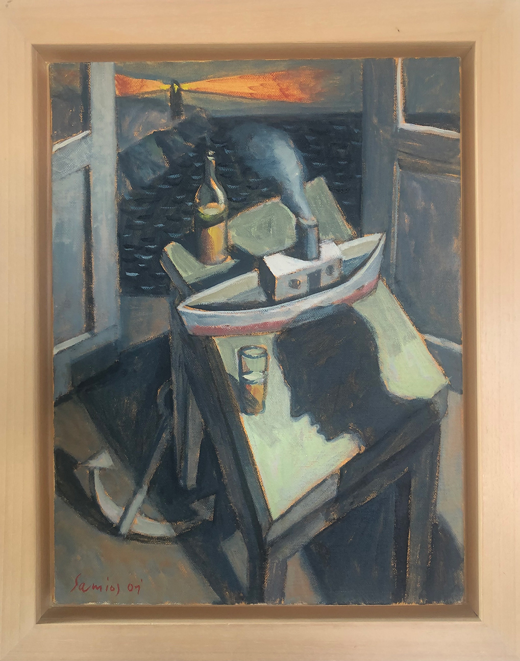 Still life, acrylics on canvas, 40x30 cm