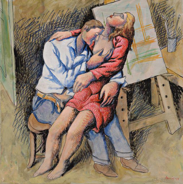 The Lovers, acrylics on canvas, 60x60 cm