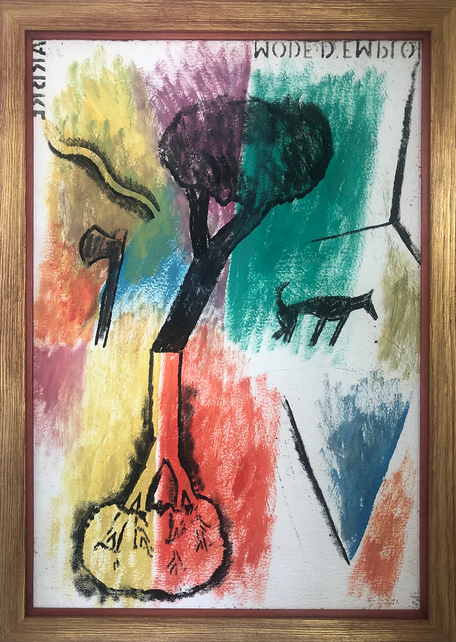 Untitled, acrylics on canvas, 90x60 cm