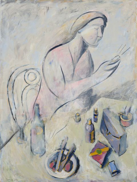 Woman, acrylics on canvas, 80x60 cm