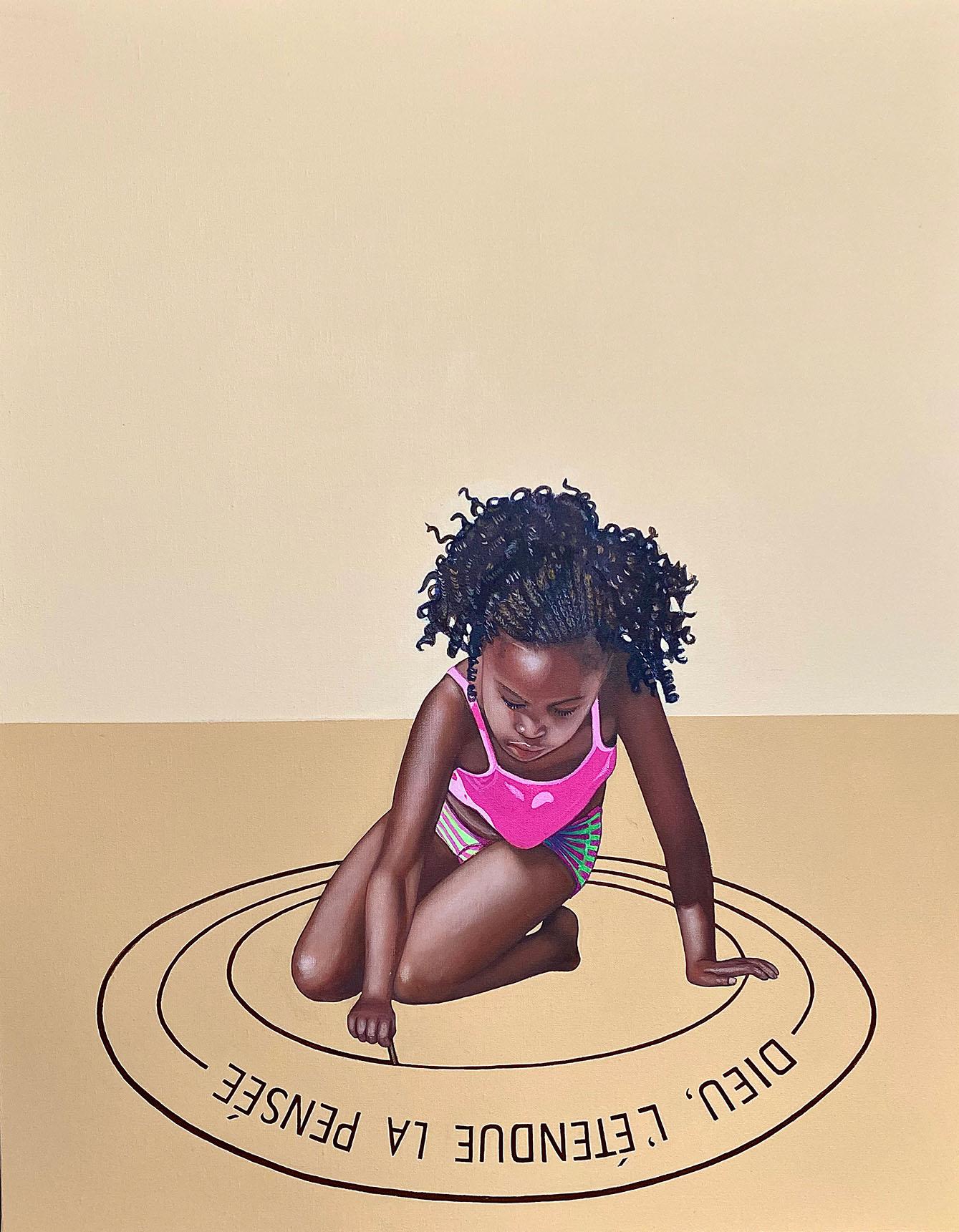 Cristina Ruiz Guinazu, Dieu, l'étendue, la pensée, acrylics on canvas, 92 x 73 cm, 2019