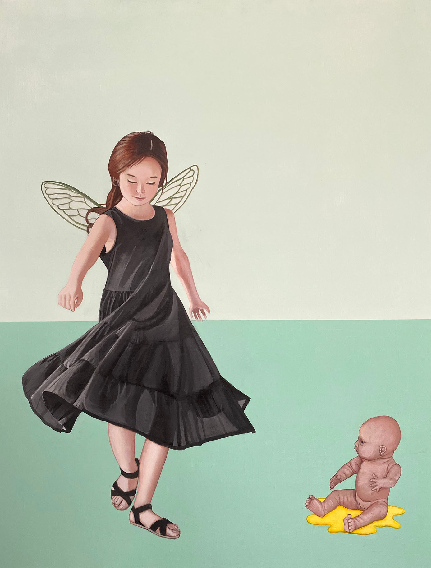 Cristina Ruiz Guinazu, La danse, acrylics on canvas, 92 x 73 cm, 2017