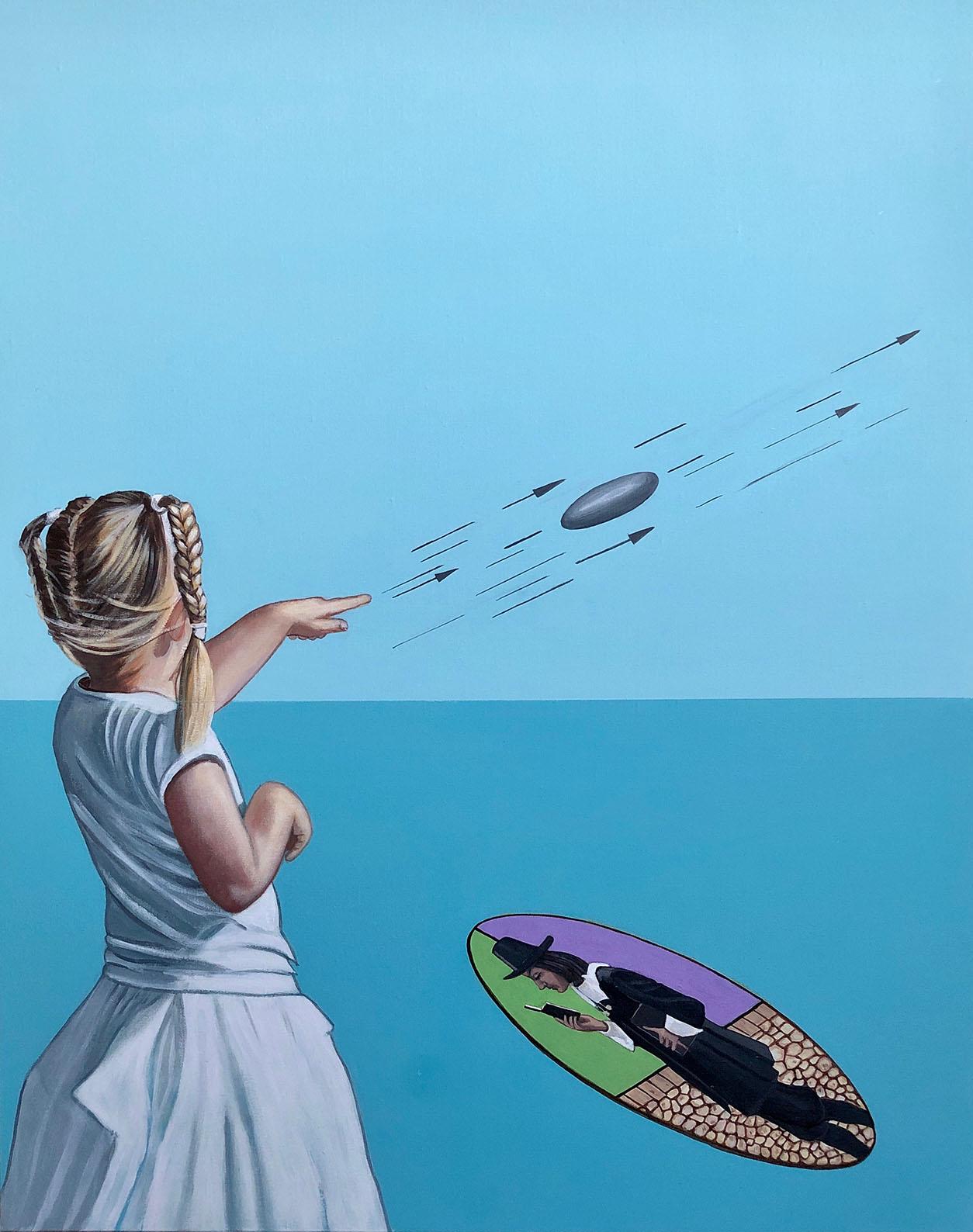Cristina Ruiz Guinazu, La pierre, acrylics on canvas, 92 x 73 cm, 2019