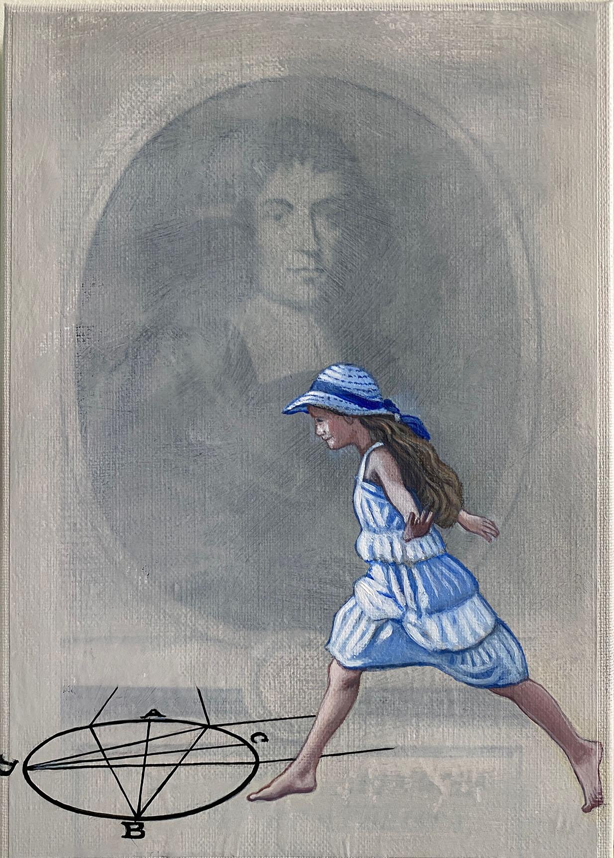 Cristina Ruiz Guinazu, L'oeil de Spinoza, collage and acrylics on canvas, 27 x 19 cm, 2021