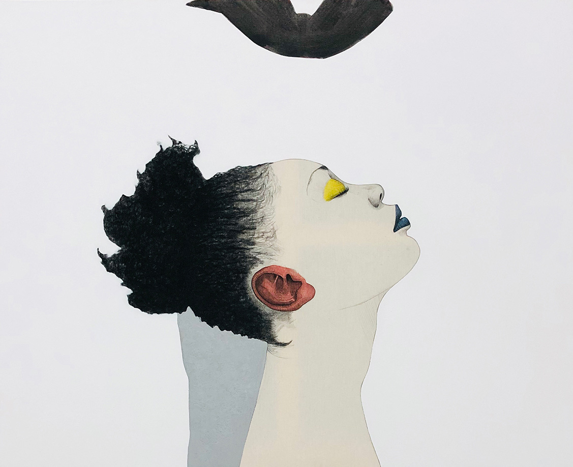 Mateo Andrea, COLOR, mixed media on canvas, 81 x 100 cm, 2018