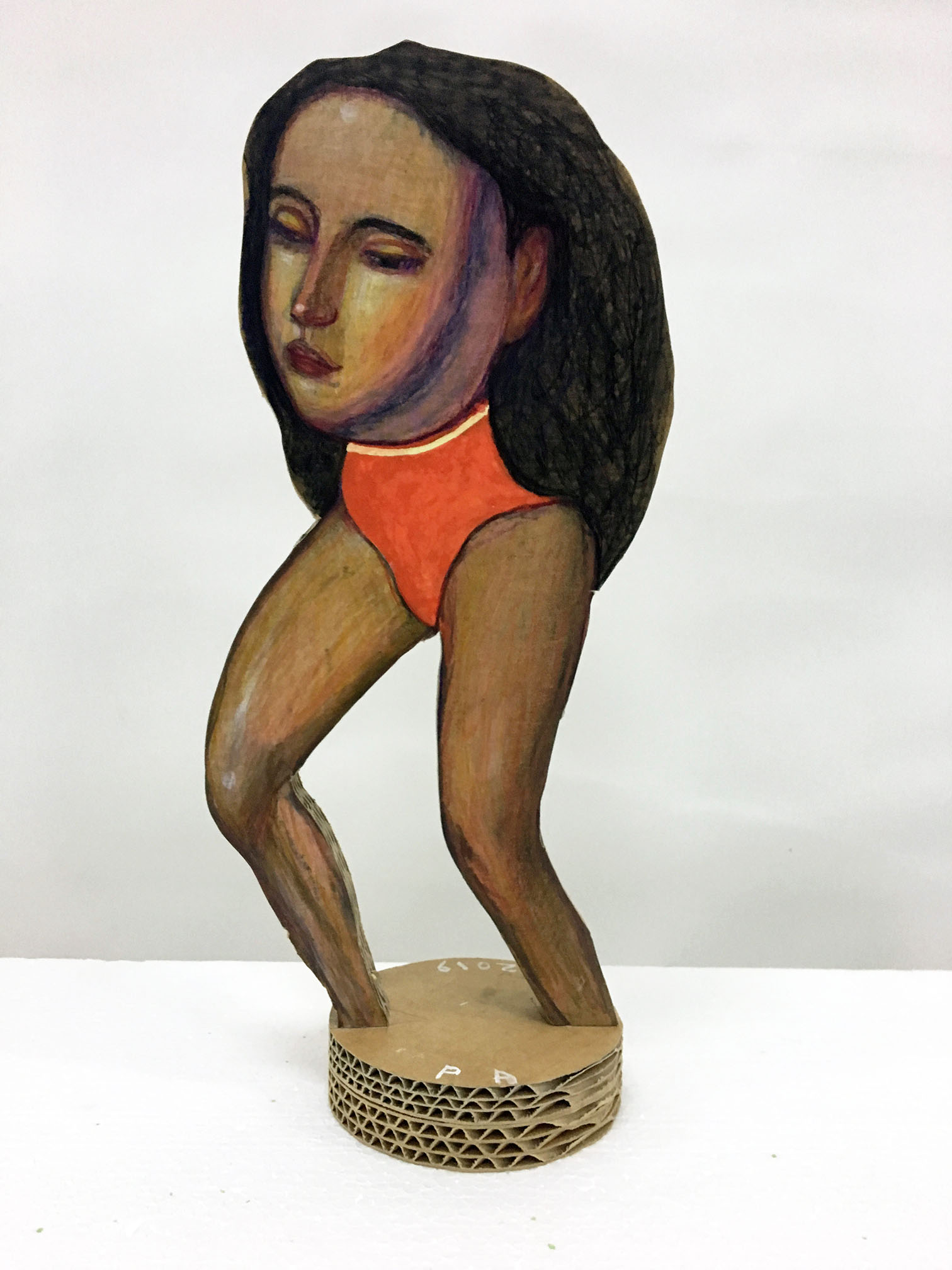 Pat Andrea, Cephalopode, mixed media on carton, 40 x 40 cm, 2020