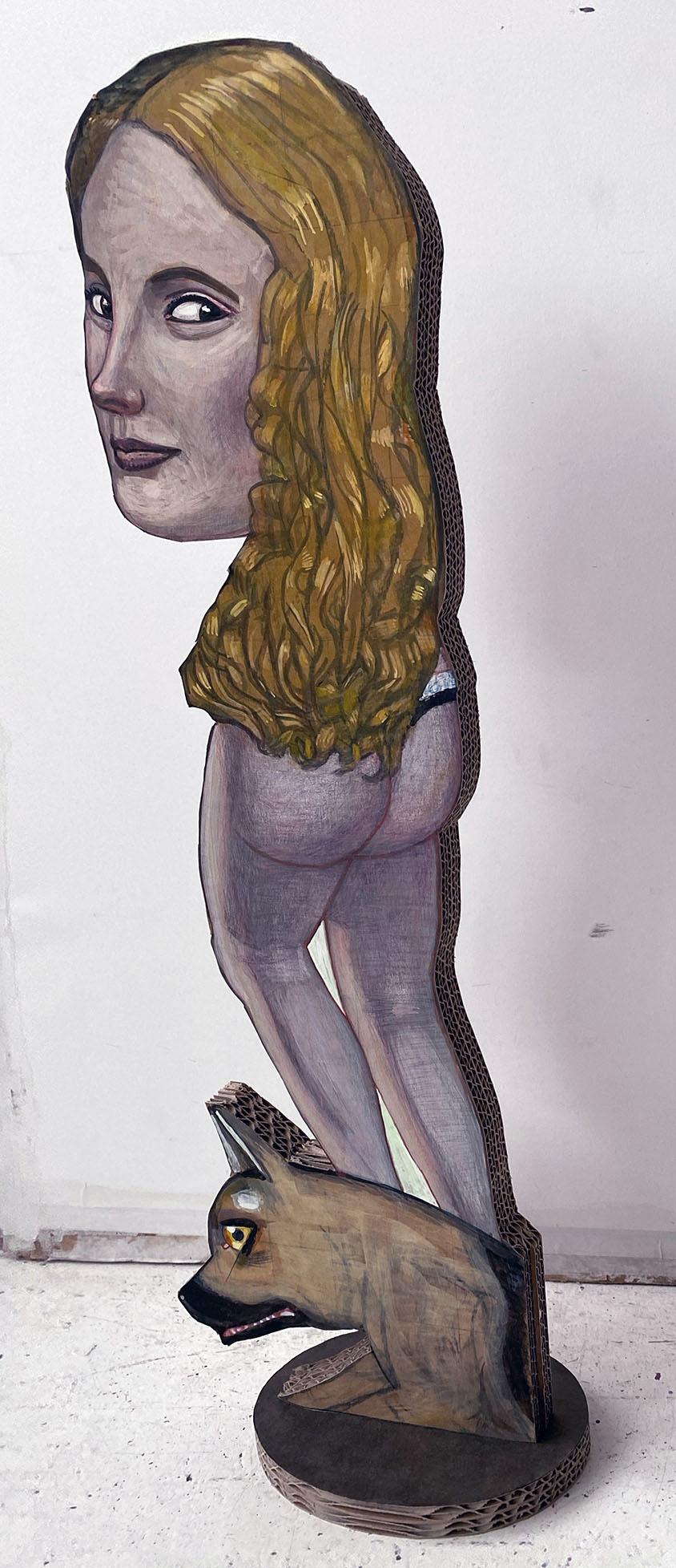Pat Andrea, Omkijken, mixed media on carton, 78 x 25 x 15 cm, 2020