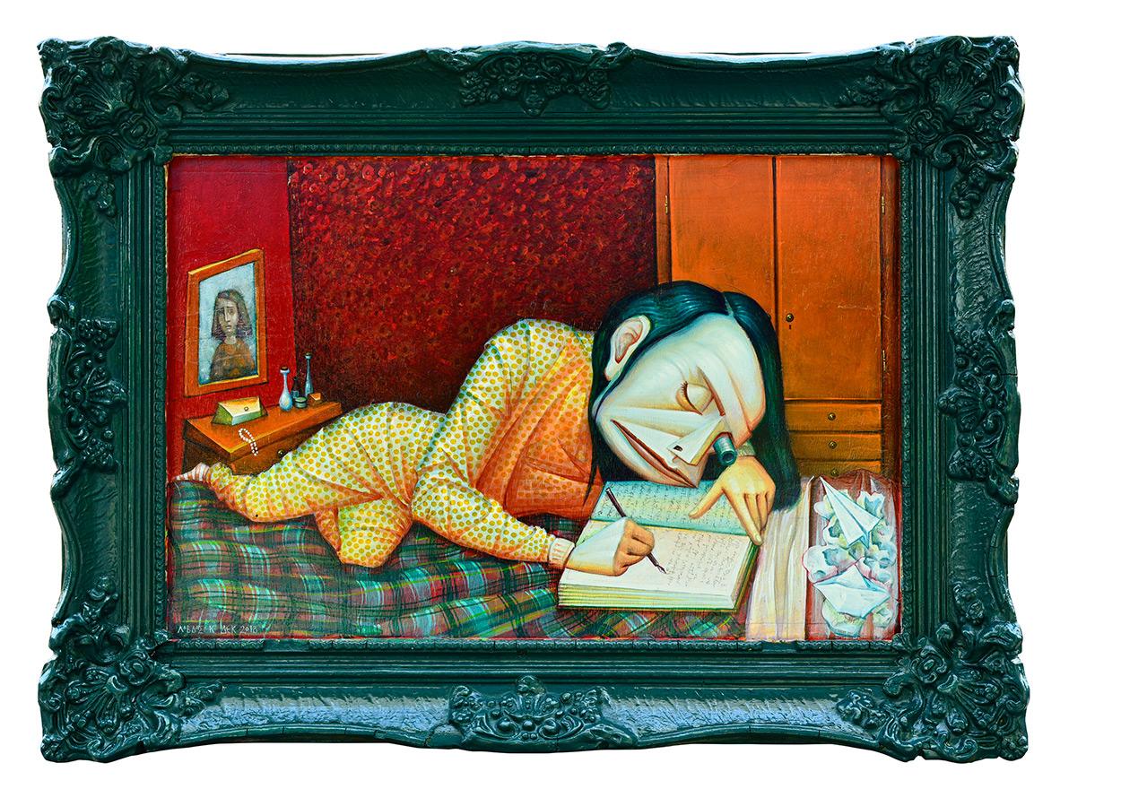 An androgynous mind, 45,5 x 34 cm, Acrylics on wood