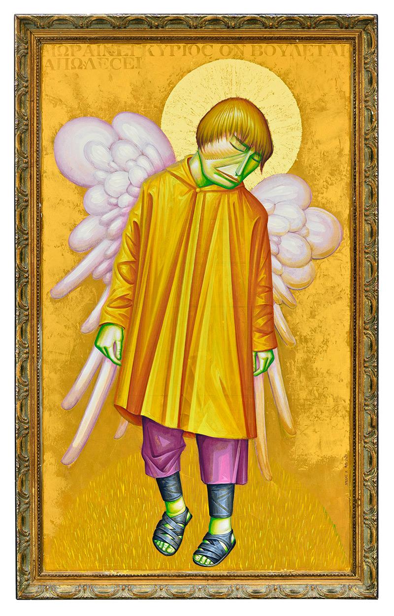 Angel, 71 x 114 cm, Acrylics on wood