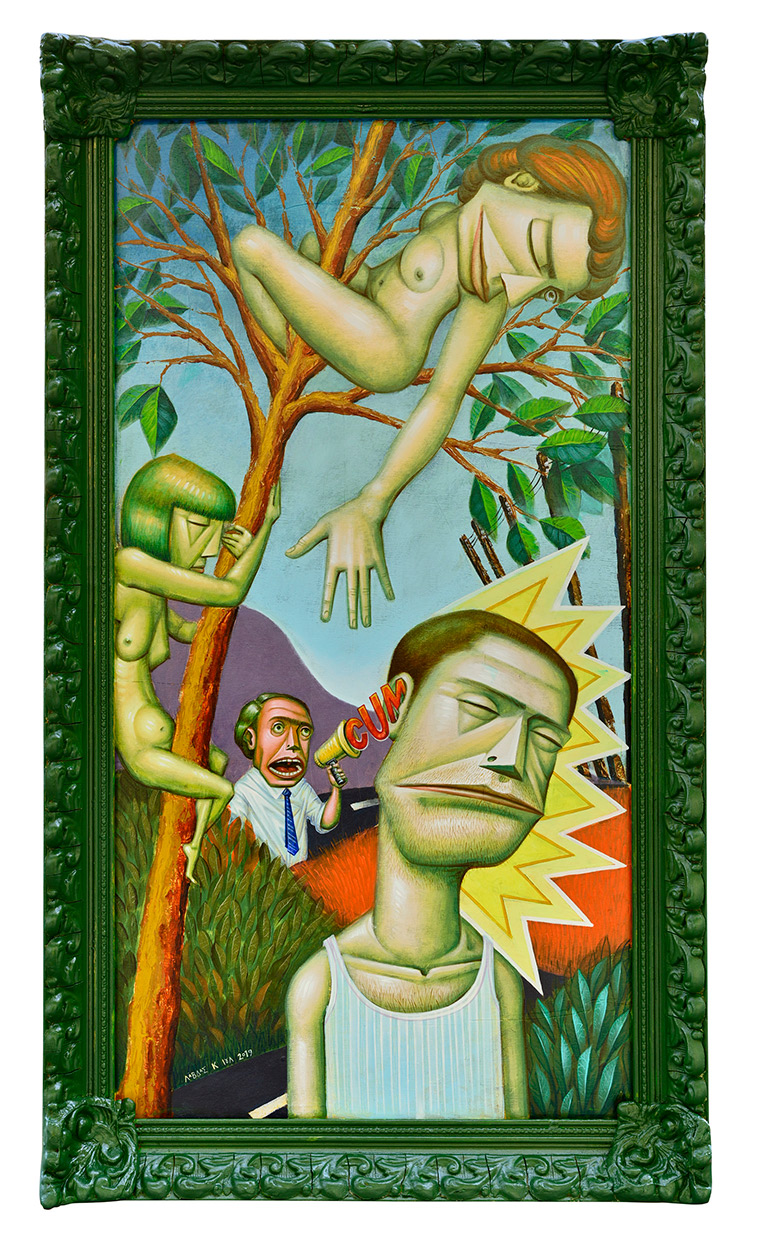 Cum as you are, 51,5 x 91,5 cm, Acrylics on wood