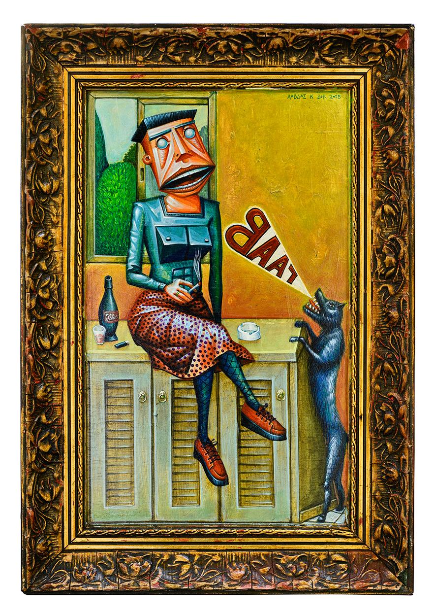 Γαβ Lαβ, 26 x 37,5 cm, Acrylics on wood
