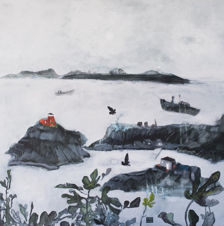End of the Island II, 100 x 100 cm