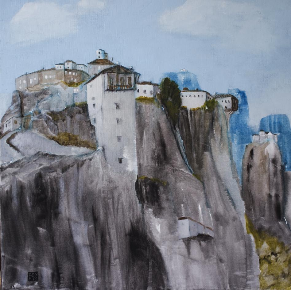 Temples of the Rocks, 50 x 50 cm