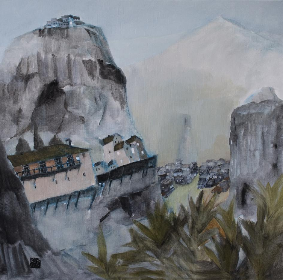 Temples of the Rocks II, 50 x 50 cm