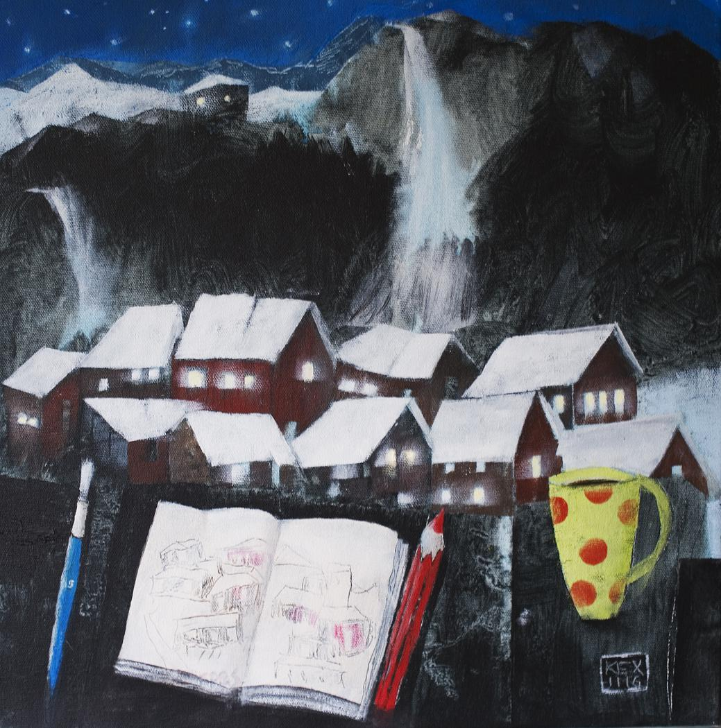 Drawings in a Dream, 40 x40 cm
