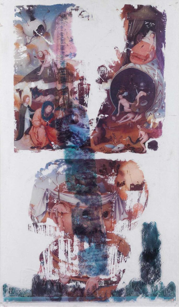 Chrissa Romanos, Untitled, mixed media on plexiglass, 145 x 85 cm, 1981(Courtesy: AD Gallery)