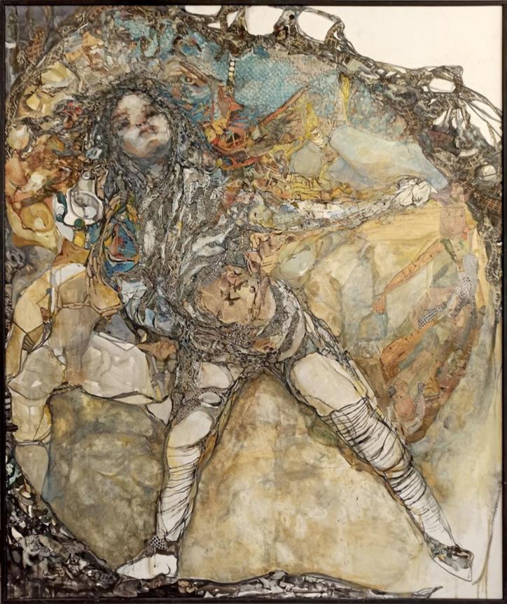 Sofia Papadopoulou, Doll, mixed media, 160x130 cm