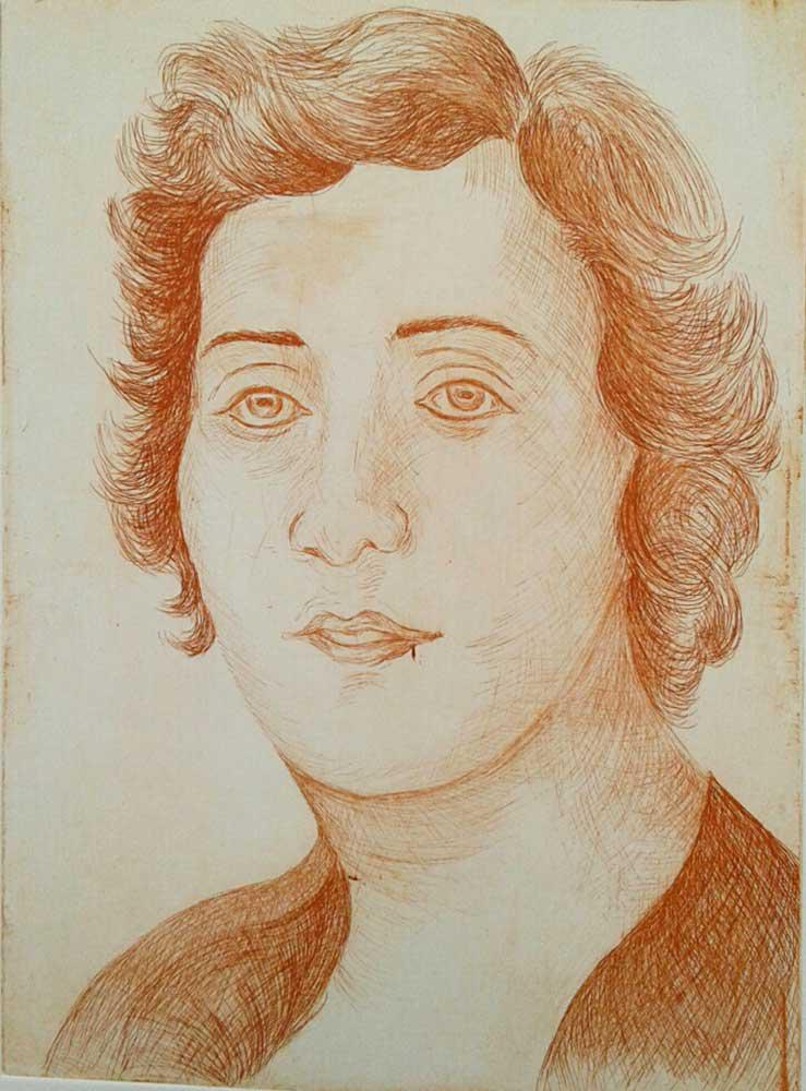 Antonia Flega, Lela Karagianni, engraving on metal, 15 x 20 cm, 2016