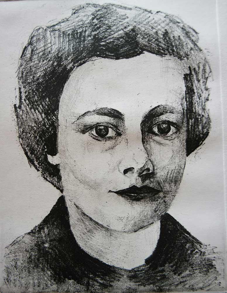 Georgia Kontou, Zorz Sarri, engraving on metal, 15 x 20 cm, 2016