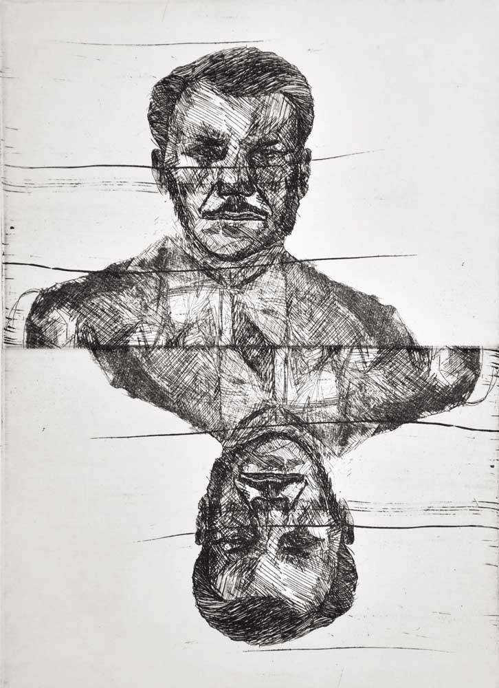 Valentini Mavrodoglou, Diamantis Mavrodoglou, engraving on metal, 15 x 20 cm, 2016