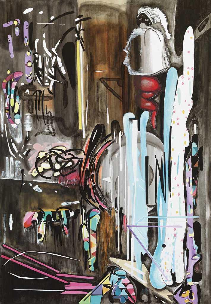 Corno Portafortuna, 100 x 70 cm, varnish and oil on canvas, 2019