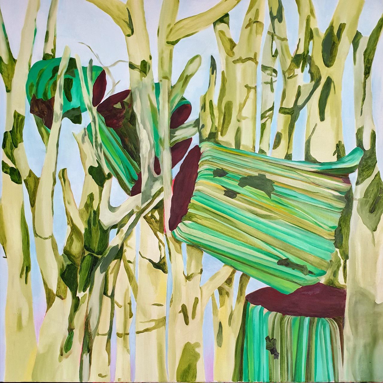 Giorgos Kazazis, Fall, oil on canvas,  100 x 100 cm, 2016