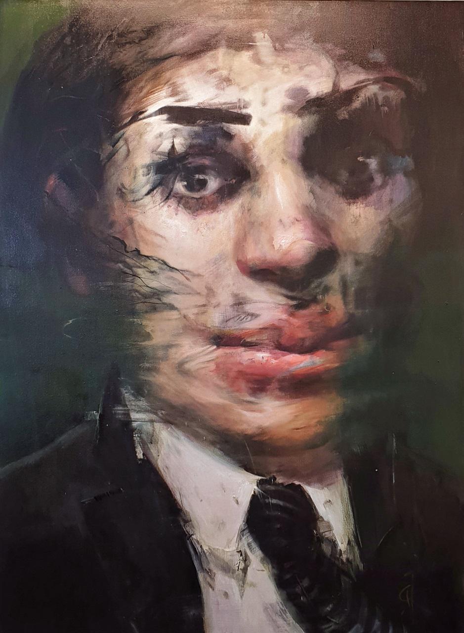 Gogo Ieromonachou, The Candidate, oil on canvas,  160 x 120 cm, 2019