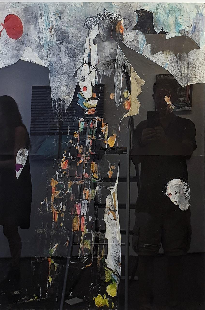Konstantinos Patsios, Tour de Babel, mixed media collage, 98 x 68 cm, 2011