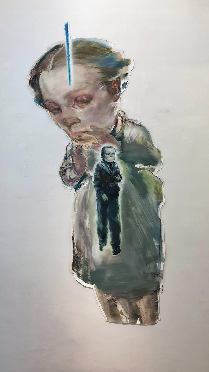 Tassos Missouras, Clear Skies, oil on canvas,  213 x 100, 2019