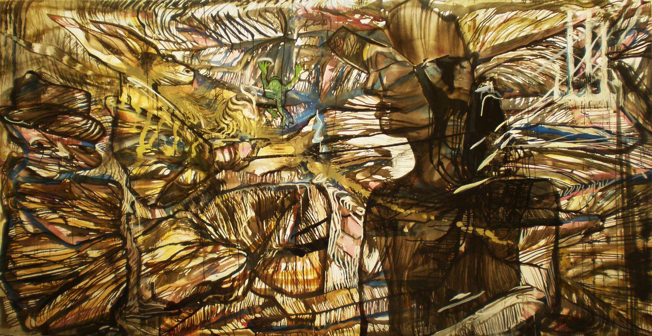 Haralabos Katsatsidis, The dream,  4 m x 2 m, oil on canvas, 2016-17