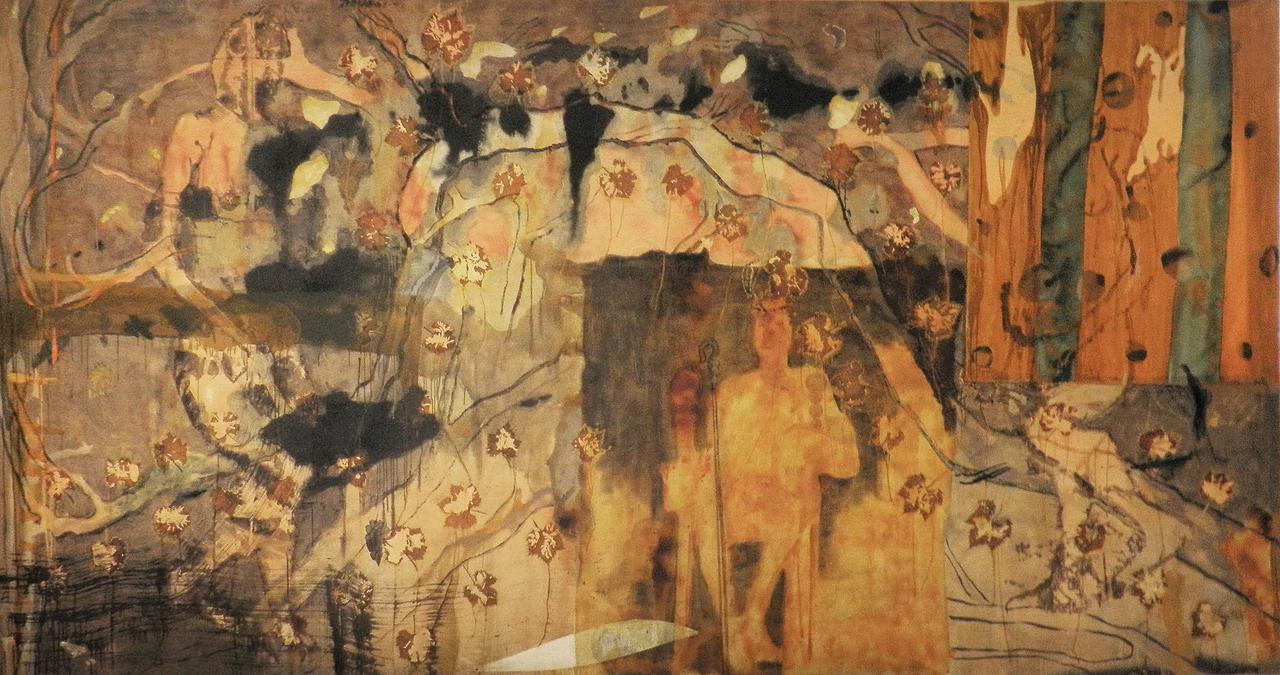 Haralabos Katsatsidis, Anax - Dionysus, 4 m x 2 m, oil on canvas, 2014-15