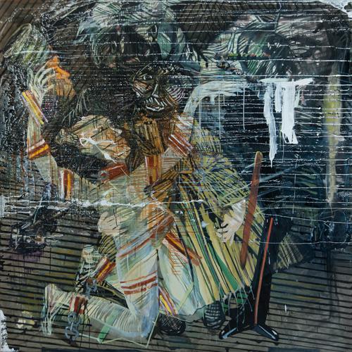Haralabos Katsatsidis, Salome`s last dance, 2 m x 2 m, oil on canvas, 2016-17