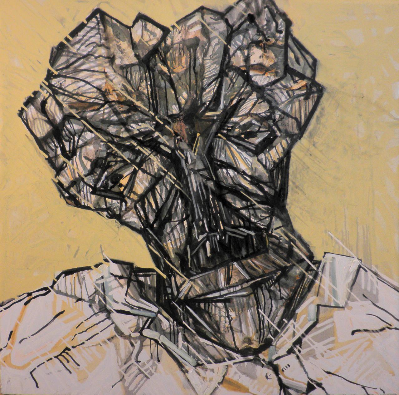 Haralabos Katsatsidis, Portrait of a patient Doctor, 1 m x 1 m, oil on canvas, 2018