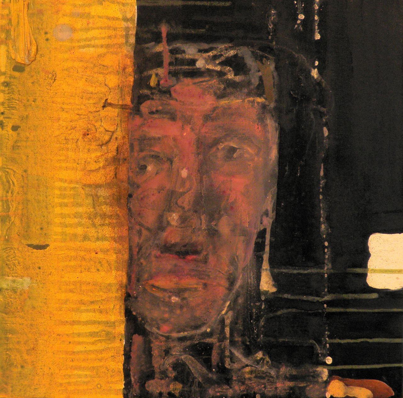 Haralabos Katsatsidis, Portrait of a Lady, 33 cm x 33 cm, oil on canvas, 2018