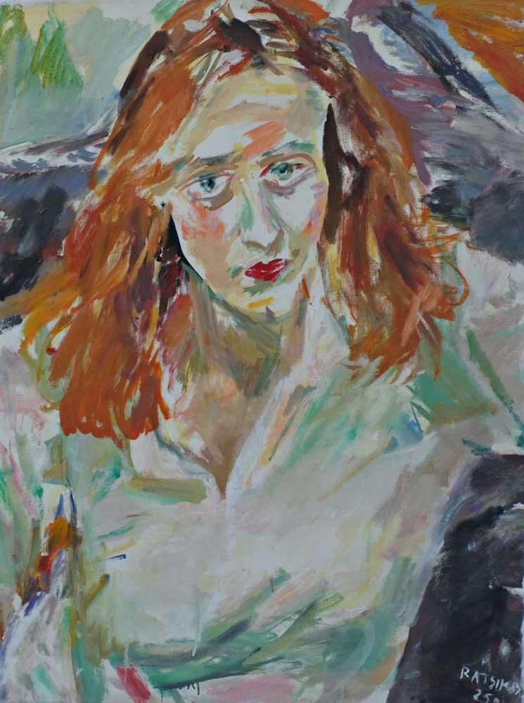 Eleni, Ch., oil on canvas, 90 x 72 cm, 2013
