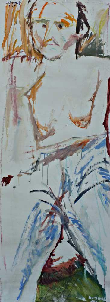 Photographer, I., oil on canvas, 155 x 59 cm, 2014