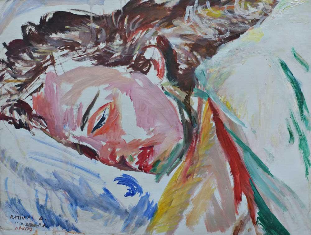 Sleep, Y., oil on canvas, 45 x 60 cm, 2016