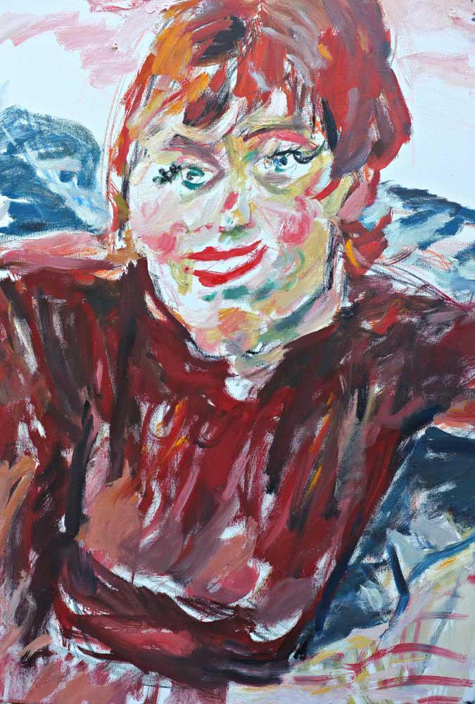 Woman, A., oil on canvas, 90 x 70 cm., 2014