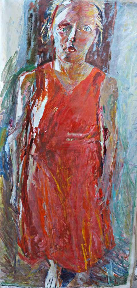 Woman, Tina, oil on canvas, 194 x 97 cm, 2016