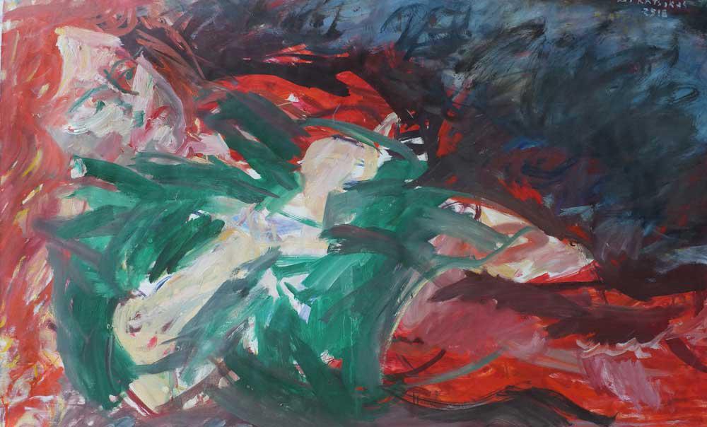Woman, Y., oil on canvas, 91 x 140 cm, 2006