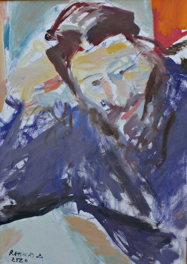 Young Man I., oil on canvas, 70 x 50 cm, 2013